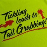 Tail Grabber Rash Guard Yellow Back Detail
