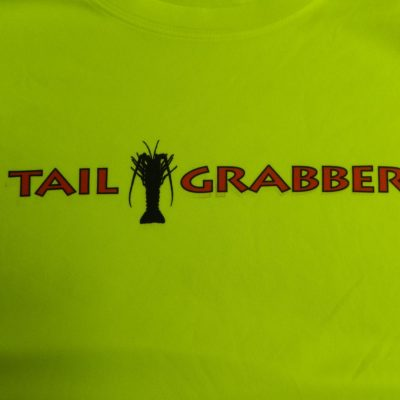 Tail Grabber Rash Guard Yellow Detail